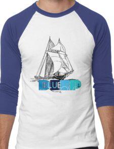 Deep Blue Ocean Love Sailing Design Men's Baseball ¾ T-Shirt