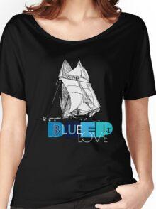 Deep Blue Ocean Love Sailing Design Women's Relaxed Fit T-Shirt
