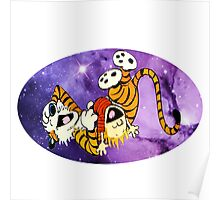 Calvin and Hobbes Laugh Poster