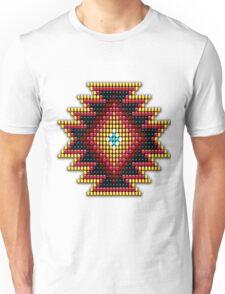 Native American-Style Fiery Sunburst Unisex T-Shirt