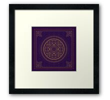 Indigo Home Medallion  Framed Print