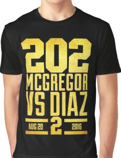 UFC202 McGregor V Diaz 2 Gold Graphic T-Shirt