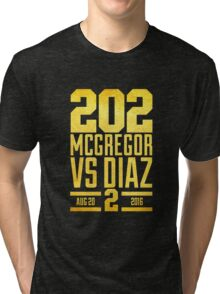 UFC202 McGregor V Diaz 2 Gold Tri-blend T-Shirt