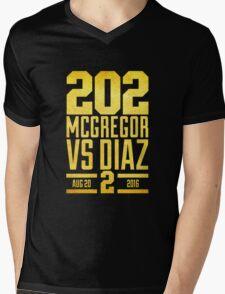 UFC202 McGregor V Diaz 2 Gold Mens V-Neck T-Shirt