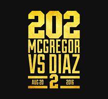 UFC202 McGregor V Diaz 2 Gold Unisex T-Shirt