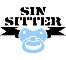 Sin Sitter Photographic Print