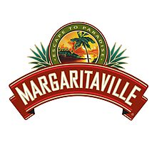 escape to paradise jimmy buffett's margaritaville logo genico Photographic Print