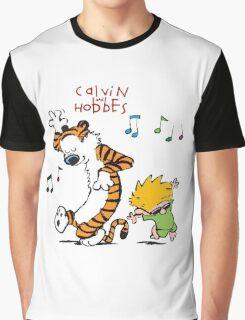 Calvin and Hobbes Dancing Graphic T-Shirt
