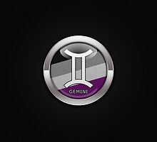 Gemini - Asexual Pride  by LiveLoudGraphic