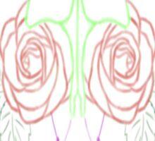 Luna Moth Rose Sticker