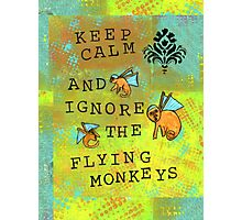 Keep Calm and Ignore the Flying Monkeys  Photographic Print