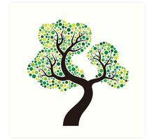 Colorful tree, colouring art Art Print