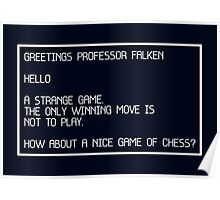 Strange Game - WarGames (Simple) Poster