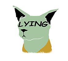 "lying cat- saga comic ""lying"" Photographic Print"