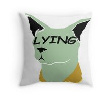 "lying cat- saga comic ""lying"" Throw Pillow"