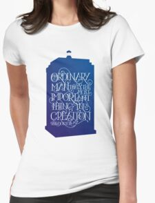 Ordinary Man - Blue Box Womens Fitted T-Shirt