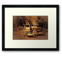 """Just Like in the Old Western Movies""... prints and products Framed Print"