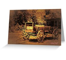 """Just Like in the Old Western Movies""... prints and products Greeting Card"
