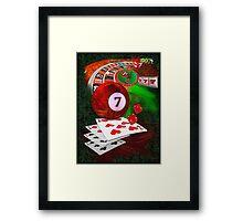 7's Framed Print