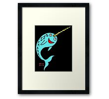Silly Narwhal Framed Print