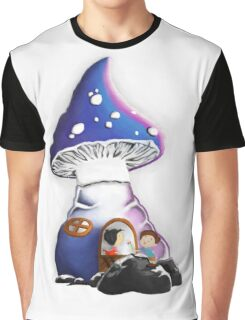 Cartoon mushroom house Graphic T-Shirt