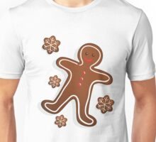 Smiling Gingerbread Man - Christmas Cookies Unisex T-Shirt