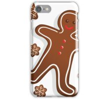 Smiling Gingerbread Man - Christmas Cookies iPhone Case/Skin
