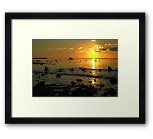 Three in a boat Framed Print