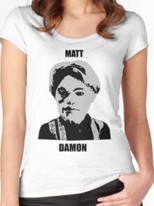 Matt Damon Women's Fitted Scoop T-Shirt