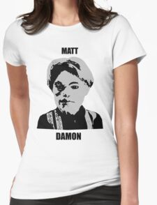 Matt Damon Womens Fitted T-Shirt