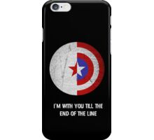 Cap and Bucky White Text iPhone Case/Skin