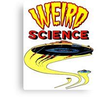 Weird Science UFO scifi vintage Canvas Print
