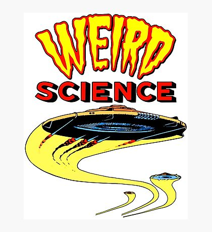 Weird Science UFO scifi vintage Photographic Print