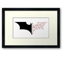 Batman/Joker Bat Symbol Framed Print