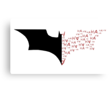 Batman/Joker Bat Symbol Canvas Print