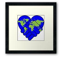PEACE world earth Framed Print