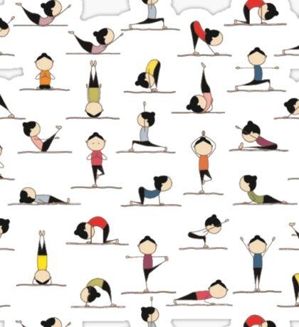 Yoga Pants Bali Ubud Sticker
