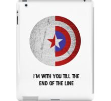 Cap and Bucky Black Text iPad Case/Skin