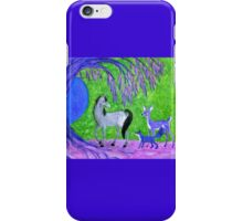 Horse and Friends in Green, Blue, and Pink iPhone Case/Skin