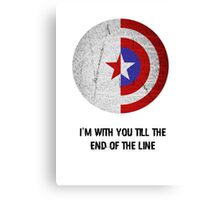 Cap and Bucky Black Text Canvas Print