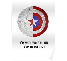 Cap and Bucky Black Text Poster