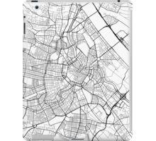 Vienna Map, Austria - Black and White iPad Case/Skin