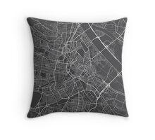 Vienna Map, Austria - Gray  Throw Pillow