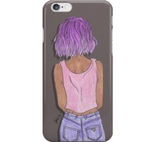 Purple Hair iPhone Case/Skin