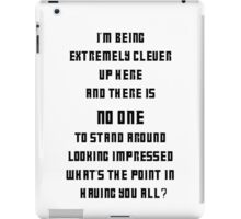 Extremely Clever DOCTOR WHO - Black font iPad Case/Skin