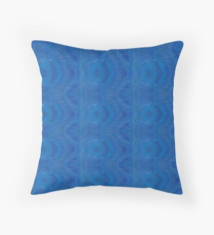 Abstract Blue Stripe Alteration 568B Throw Pillow
