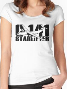 C-141 Starlifter Women's Fitted Scoop T-Shirt