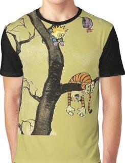 Calvin And Hobbes : I'll Help You Hob Graphic T-Shirt