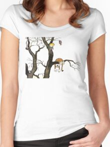 Calvin And Hobbes : I'll Help You Hob Women's Fitted Scoop T-Shirt