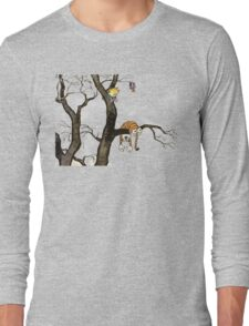 Calvin And Hobbes : I'll Help You Hob Long Sleeve T-Shirt